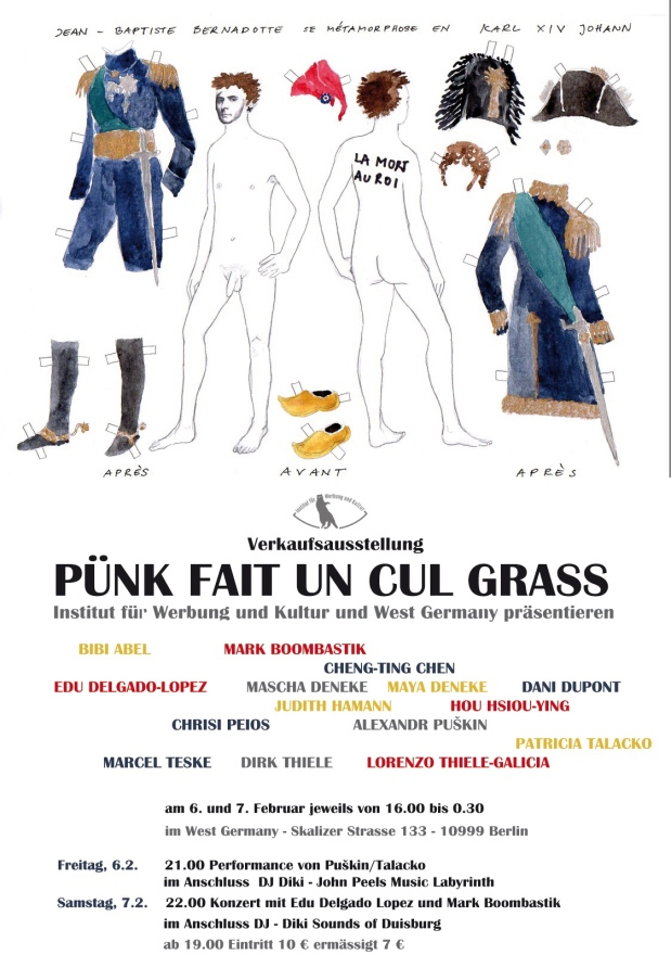 PÜNK FAIT UN CUL GRASS • Verkaufsausstellung Berlin/West Germany 6./7.2.2015 mit Bildern von JudithHaman