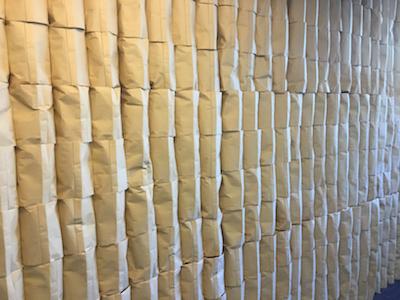 Papierwand zu verkaufen